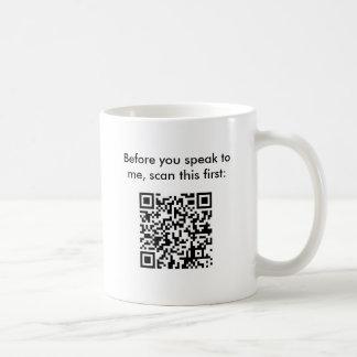 Don't Bug Me - Secret Message Bar Code Mug