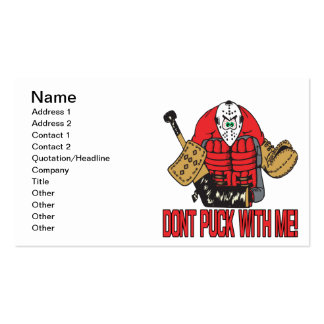 Dont Puck With Me Pack Of Standard Business Cards