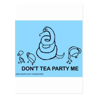 Don't Tea Party Me - blue Postcard