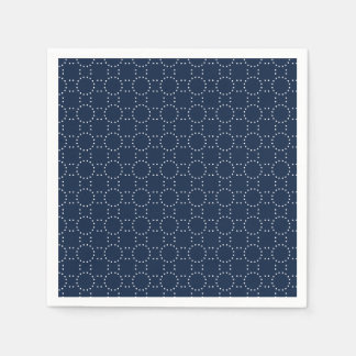 Dots Dark Denim Blue Disposable Napkin