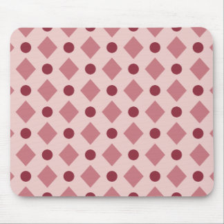 Dots & Diamond Pattern Pink Mouse Pad