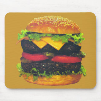 Double Deluxe Hamburger with Cheese Mouse Pad
