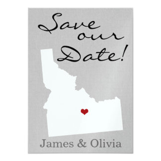 Double Side Save the Date with ID State 11 Cm X 16 Cm Invitation Card