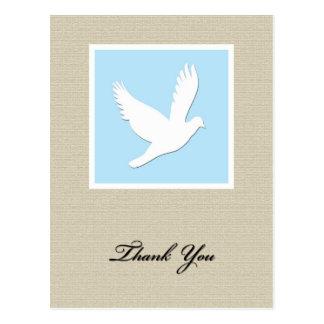 Dove Sympathy Thank You Postcard