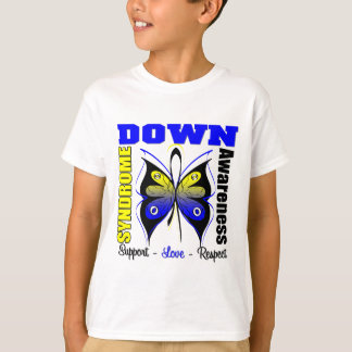 Down Syndrome Awareness Butterfly Tee Shirt