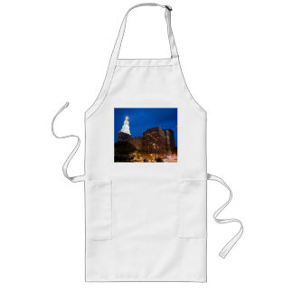 Downtown Hartford Connecticut at Night Long Apron