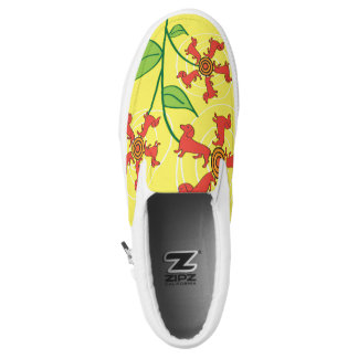 Doxie Flower Slip On Shoes Printed Shoes