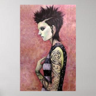 Dragon Girl - Original art by Dori Hartley Poster