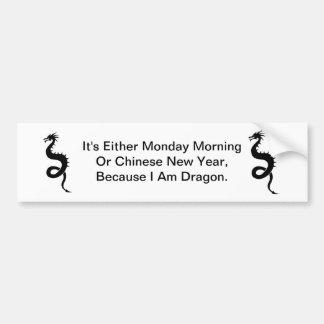 Dragon Monday Morning Bumper Sticker
