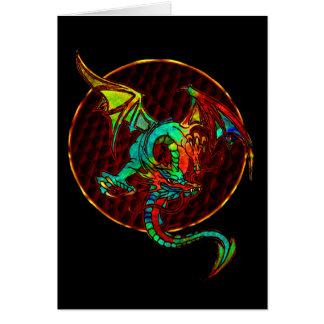 Dragon Moon Blank Card