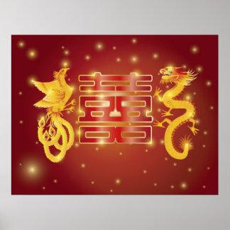 Dragon Phoenix Wedding Poster
