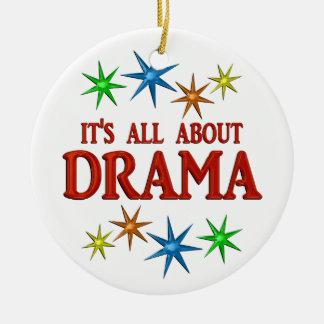 Drama Stars Round Ceramic Decoration