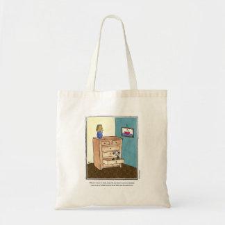 DRAWER cartoon by Ellen Elliott Budget Tote Bag