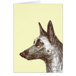 drawing malinois greeting card