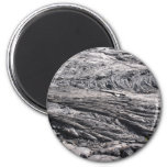 Dried Black Lava in Hawaii 6 Cm Round Magnet