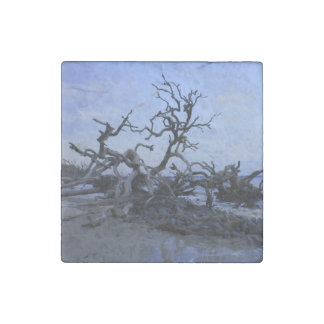 Driftwood Sunset Stone Magnet