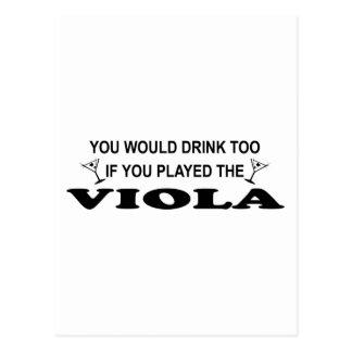 Drink Too - Viola Postcard
