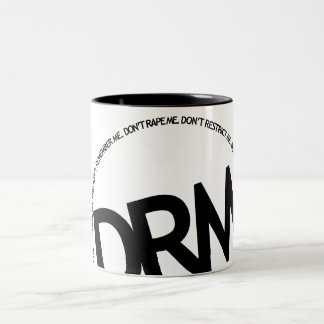 DRM: Don't Restrict Me Two-Tone Mug