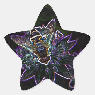Drone Flower Glow Star Sticker