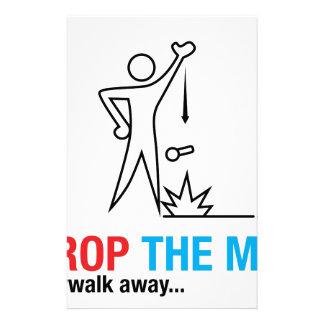 Drop The Mic and Walk Away Custom Stationery
