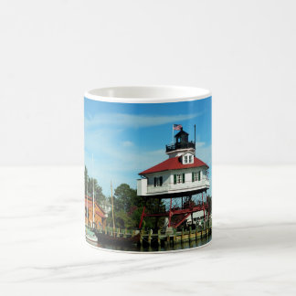 Drum Point Lighthouse Basic White Mug