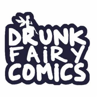 Drunk Fairy Comics Stacked Magnet Photo Sculpture Magnet