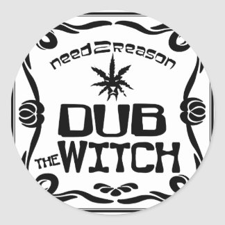 Dub the Witch Round Sticker