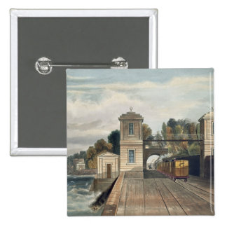 Dublin and Kingstown Railway: Granite Pavilions an 15 Cm Square Badge