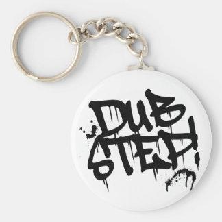 Dubstep Graffiti Style Basic Round Button Key Ring