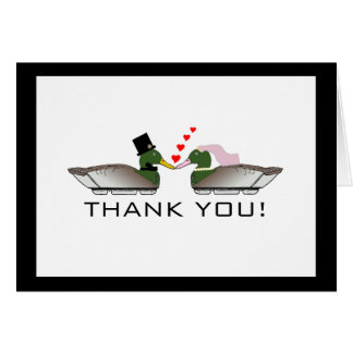 Duck Hunter Wedding Thank You Note Card