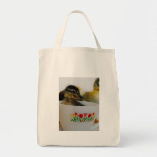 Duck in a Teacup 2 Grocery Tote Bag