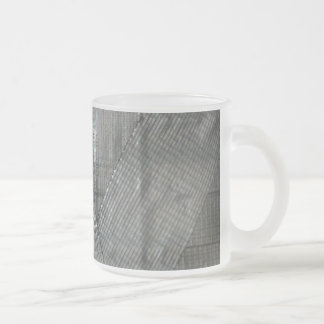 Duct Tape Love Frosted Glass Mug