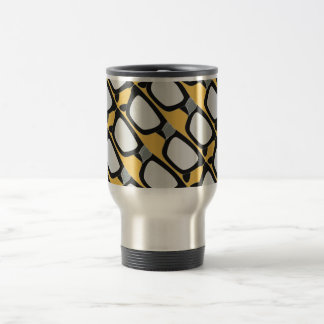 Duct-Taped Glasses Stainless Steel Travel Mug