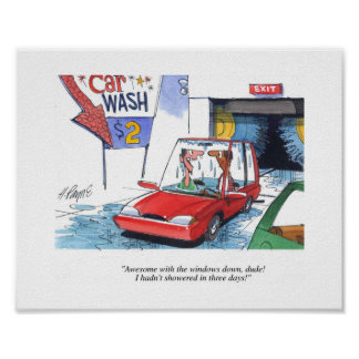 Dude Car Wash Poster
