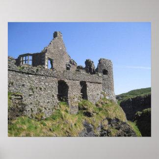 Dunluce Castle near Bushmills and Portrush, 3 Poster
