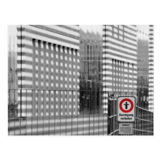 Durchgang verboten postcard