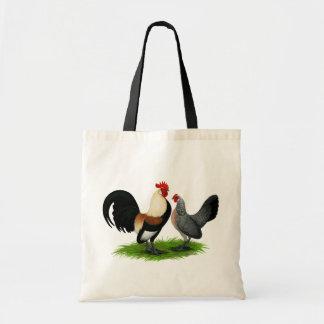 Dutch Bantams:  Cream Light Brown Budget Tote Bag