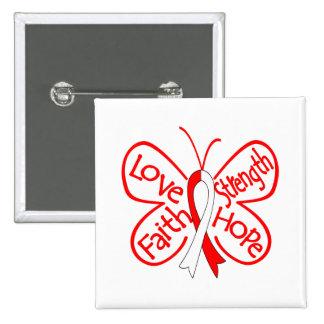 DVT Butterfly Inspiring Words 15 Cm Square Badge