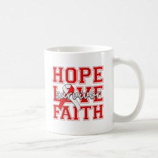 DVT Hope Love Faith Survivor Basic White Mug