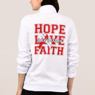 DVT Hope Love Faith Survivor Printed Jackets