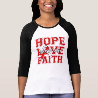 DVT Hope Love Faith Survivor Tshirt