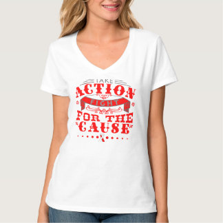 DVT Take Action Fight For The Cause Tee Shirt