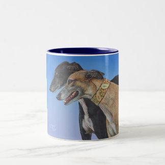 Dynamic Duo Greyhound Rescue Dog Mug Cup