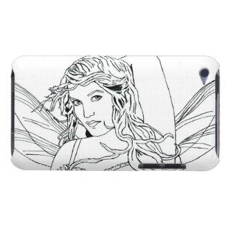 "E iPod Case ""FairyFace Doodle "" #1"