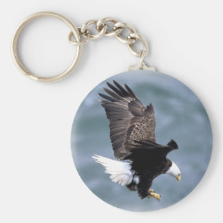 Eagle Flight Basic Round Button Key Ring