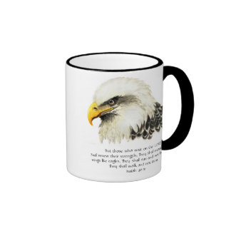 Eagle - Inspirational - Scripture - They that wait Ringer Mug