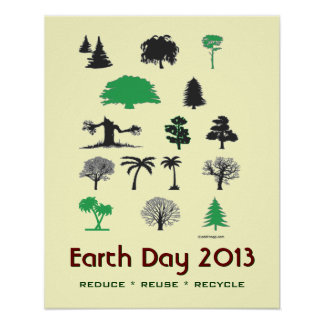 Earth Day 2013 Reduce Reuse Recycle Poster