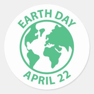 Earth Day, April 22 Round Sticker