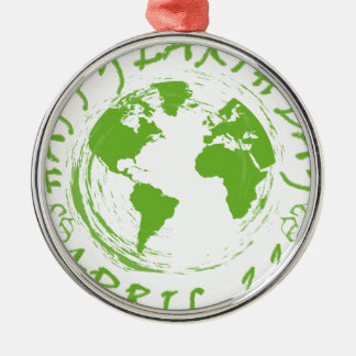 Earth Day Celebration 1 Silver-Colored Round Decoration