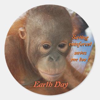 Earth Day Conservation Round Sticker